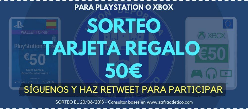 Sorteo de una tarjeta regalo de 50€ para PSN o XBOX