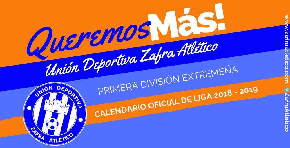 Calendario de Liga 2018 - 2019